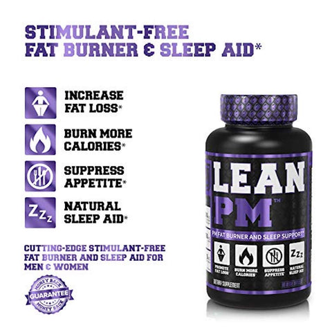 Image of LEAN PM Night Time Fat Burner, Sleep Aid Supplement, & Appetite Suppressant - 60 Stimulant-Free Veggie Weight Loss Diet Pills