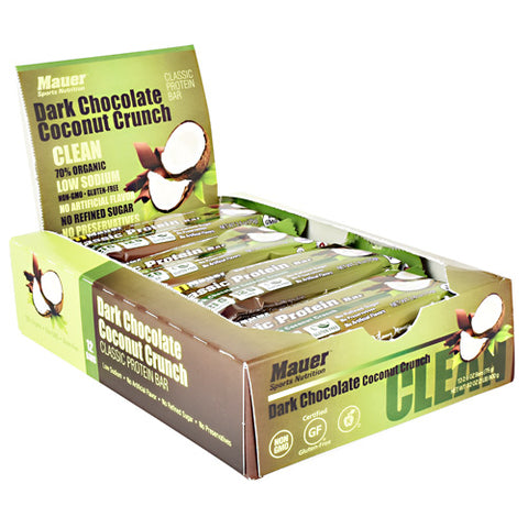Mauer Sports Nutrition Classic Protein Bar Dark Chocolate Coconut Crunch - Gluten Free