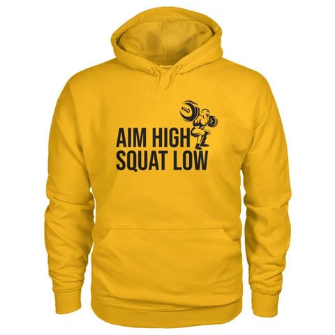 Aim High Squat Low Hoodie - Gold / S - Hoodies