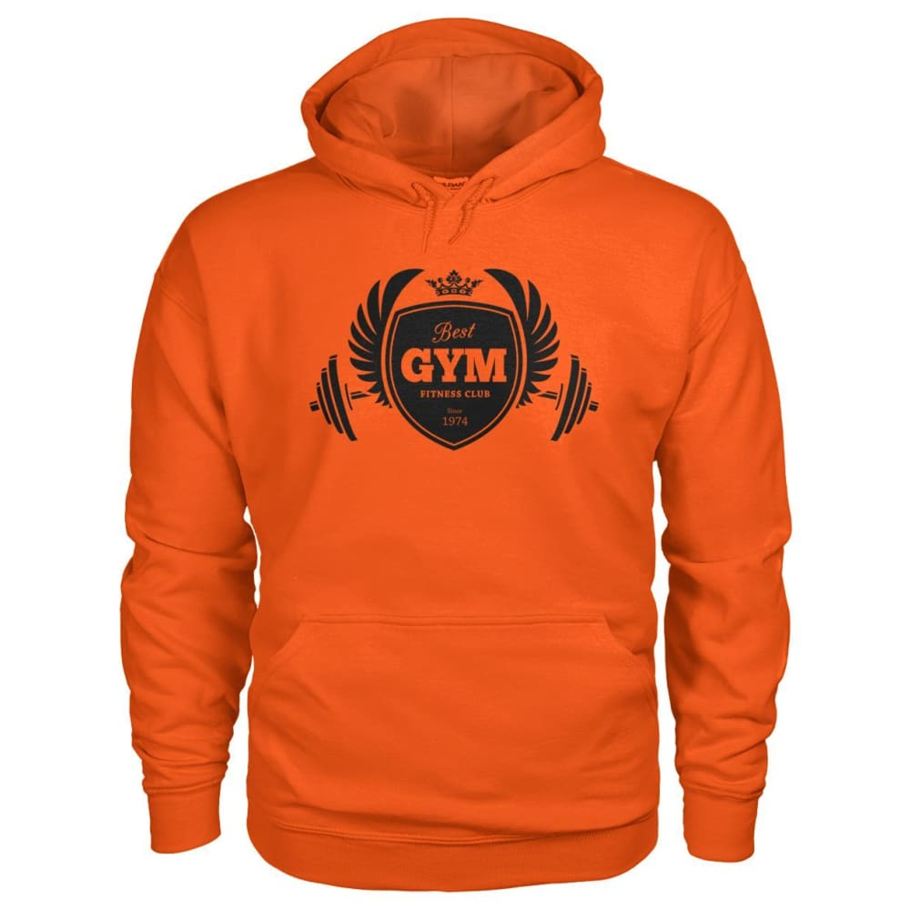 Best Gym Hoodie - Orange / S - Hoodies