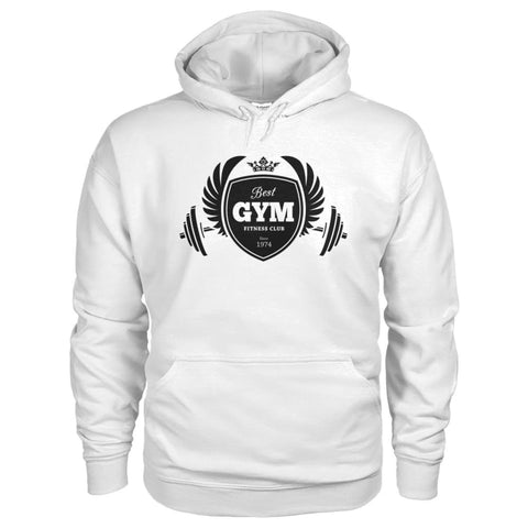Image of Best Gym Hoodie - White / S - Hoodies