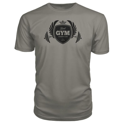Image of Best Gym Premium Tee - Charcoal / S - Short Sleeves