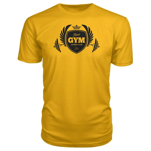 Image of Best Gym Premium Tee - Gold / S - Short Sleeves