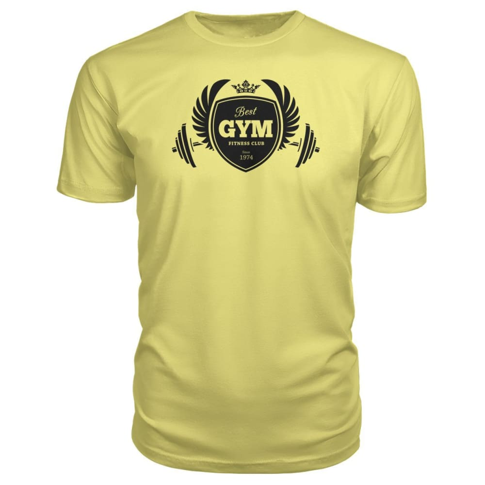 Best Gym Premium Tee - Spring Yellow / S - Short Sleeves