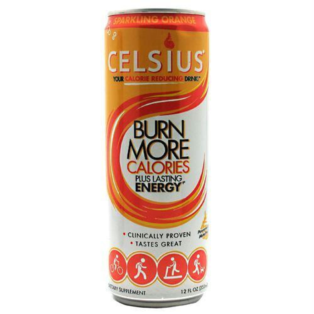 Celsius Celsius Cranberry Lemon - Gluten Free - Sparkling Orange / 12 ea - Drinks