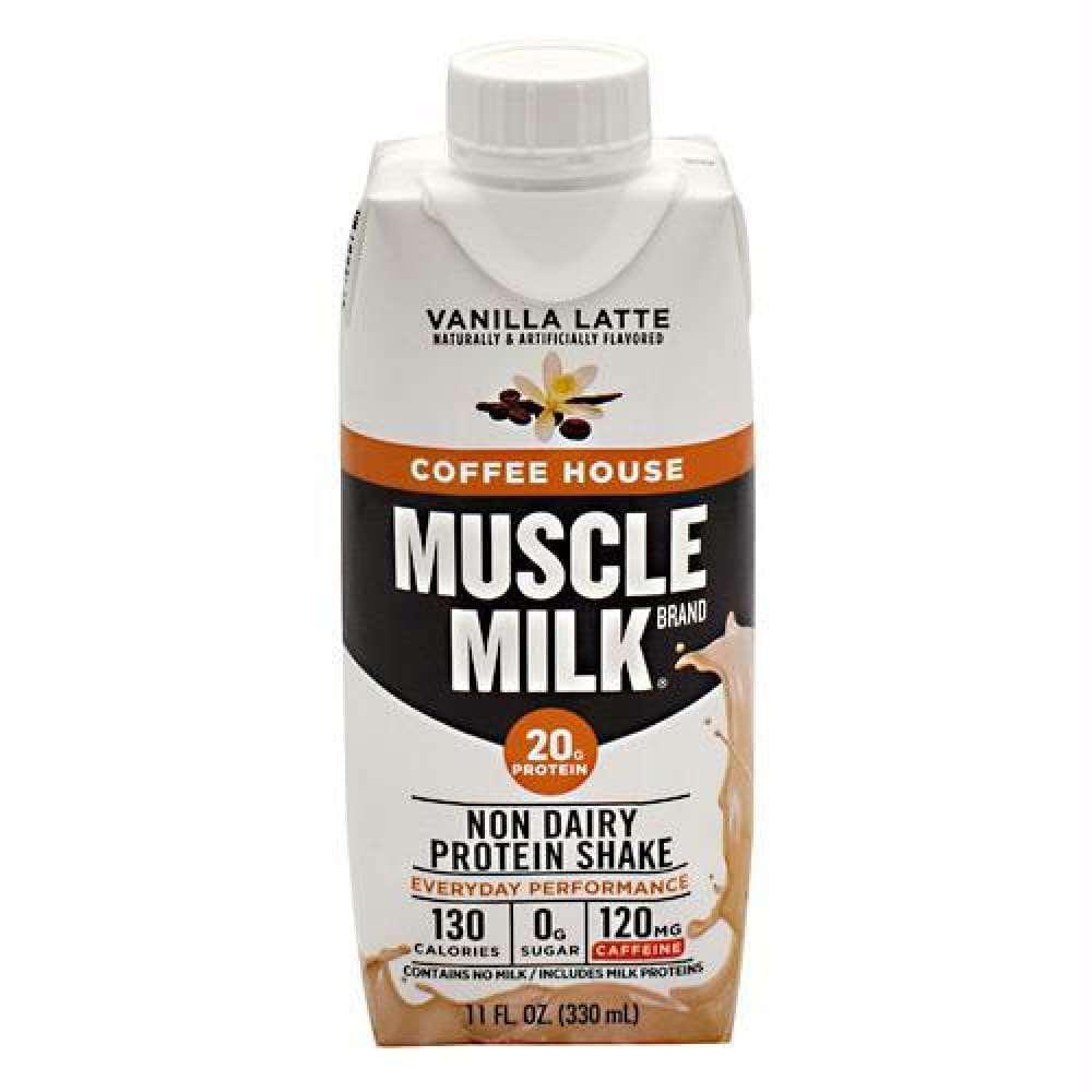 Cytosport Coffee House Muscle Milk RTD Cafe Latte - Gluten Free - Vanilla Latte / 12 ea - Drinks