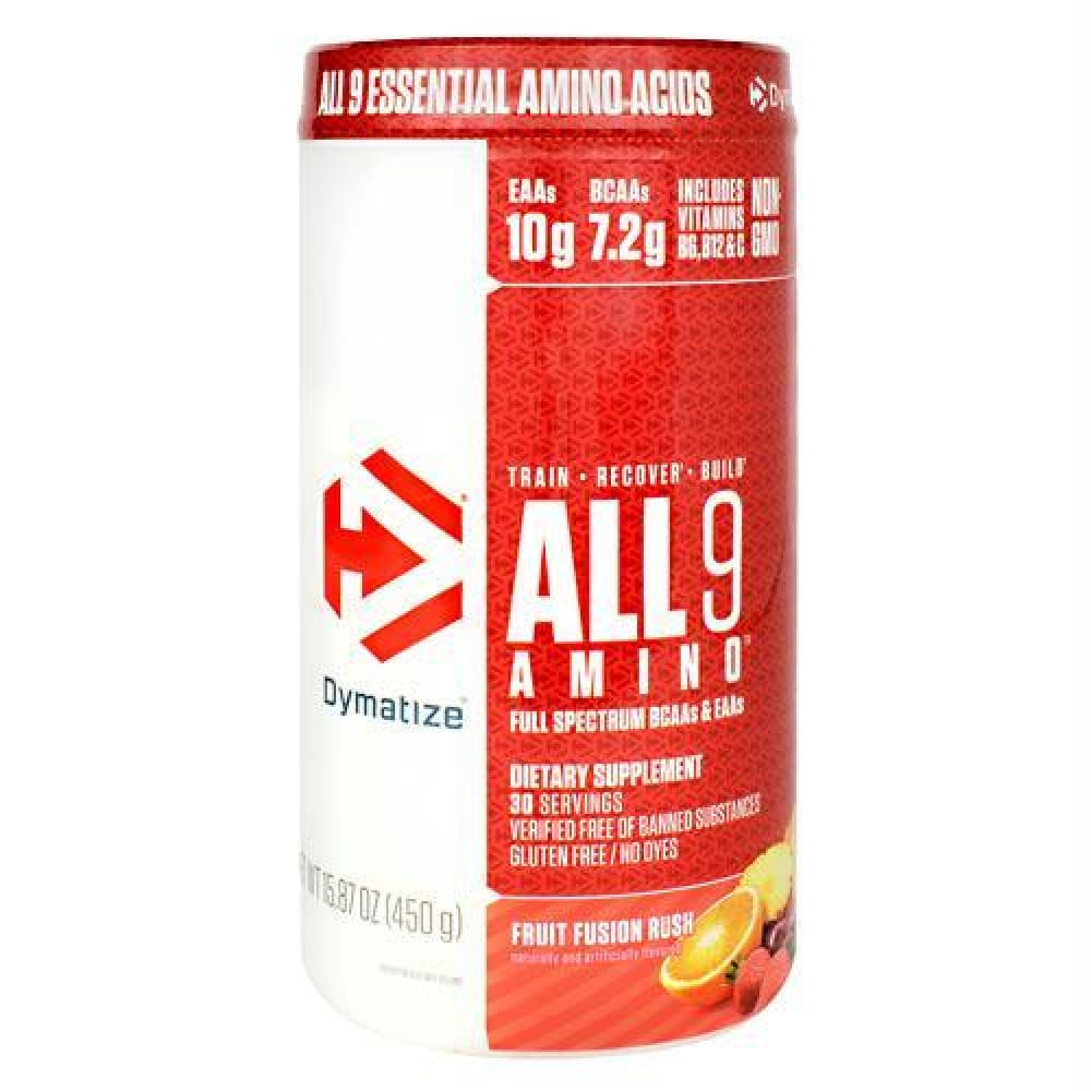 Dymatize All 9 Amino Orange Cranberry - Gluten Free - Fruit Fusion Rush / 30 ea - Supplements