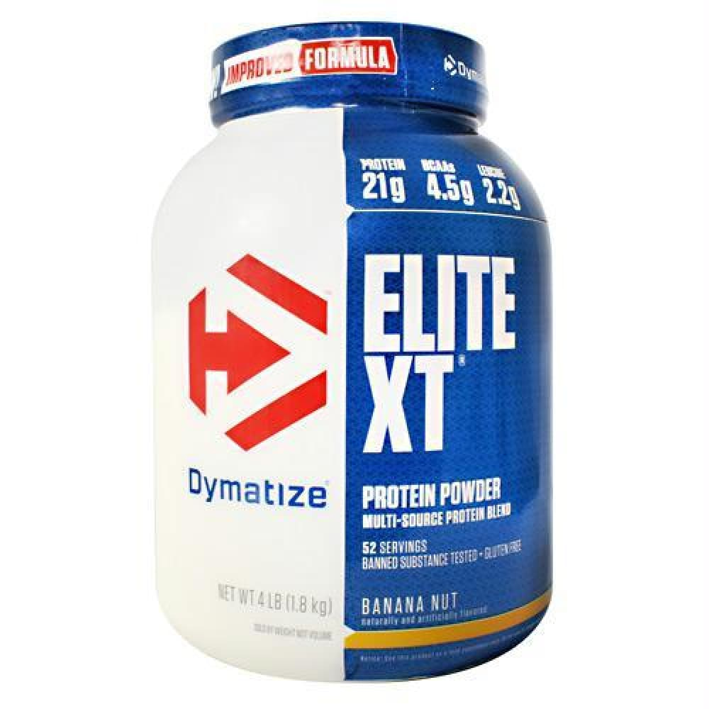 Dymatize Elite XT Chocolate Peanut Butter - Gluten Free - Banana Nut / 4 lb - Supplements