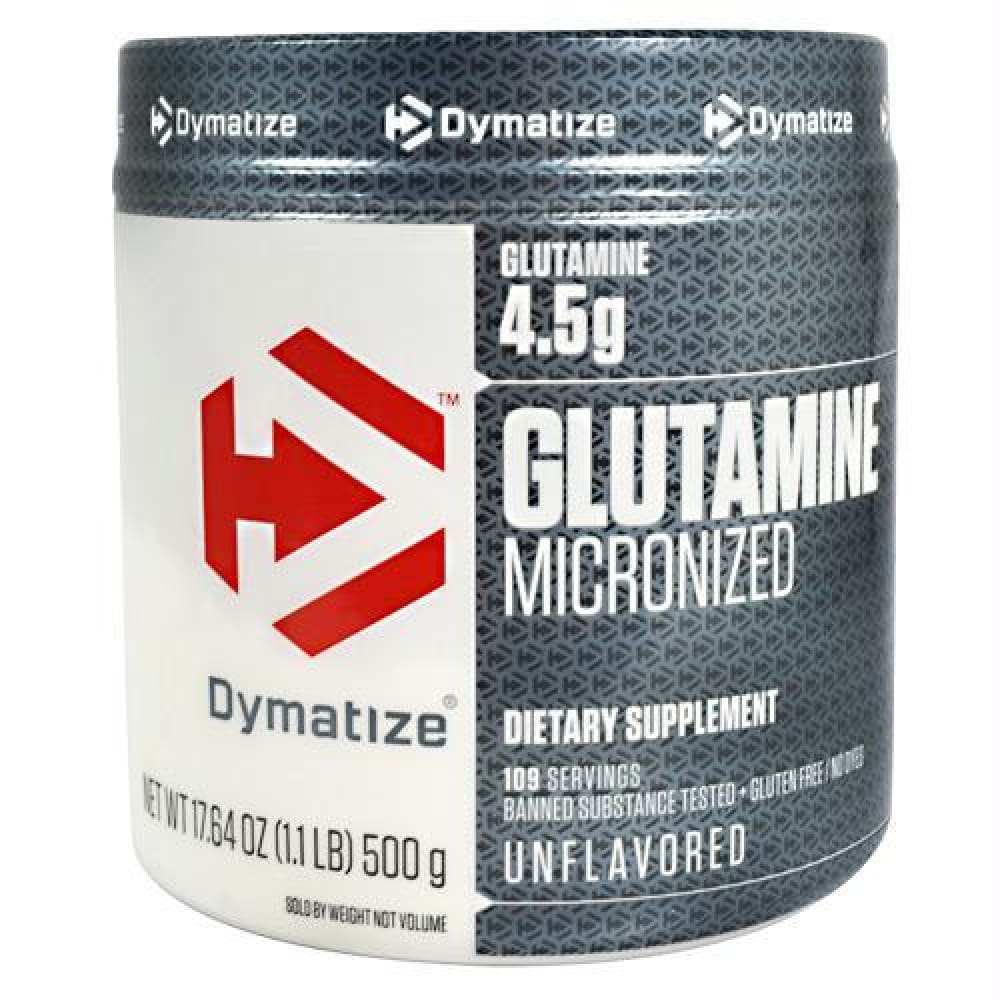 Dymatize Glutamine Micronized Unflavored - Gluten Free - Unflavored / 1.1 lb - Supplements
