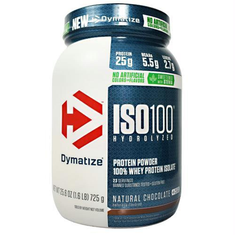 Dymatize Natural ISO-100 Natural Chocolate - Gluten Free - Natural Chocolate / 1.6 lb - Supplements