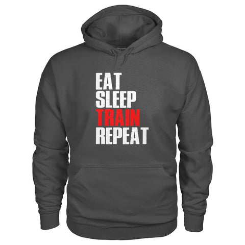 Image of Eat Sleep Train Repeat Hoodie - Charcoal / S - Hoodies
