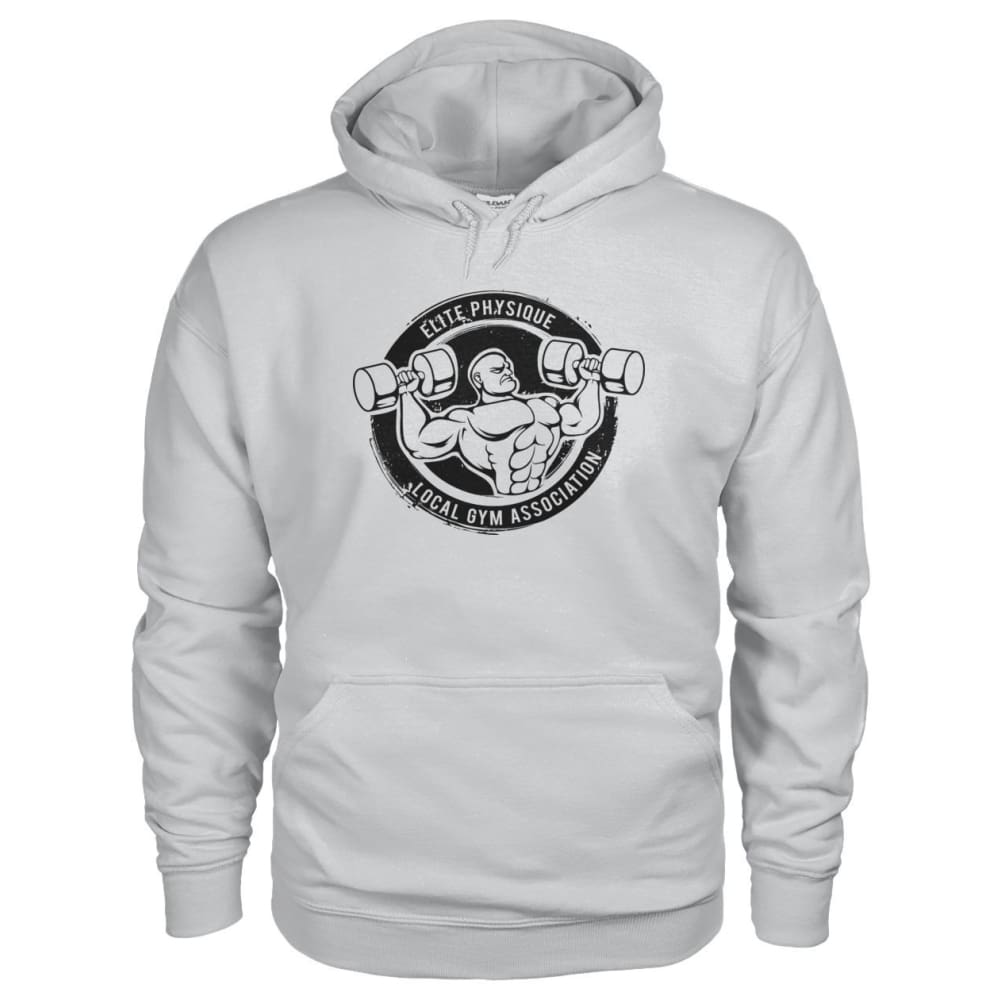 Elite Physique Hoodie - Ash Grey / S - Hoodies