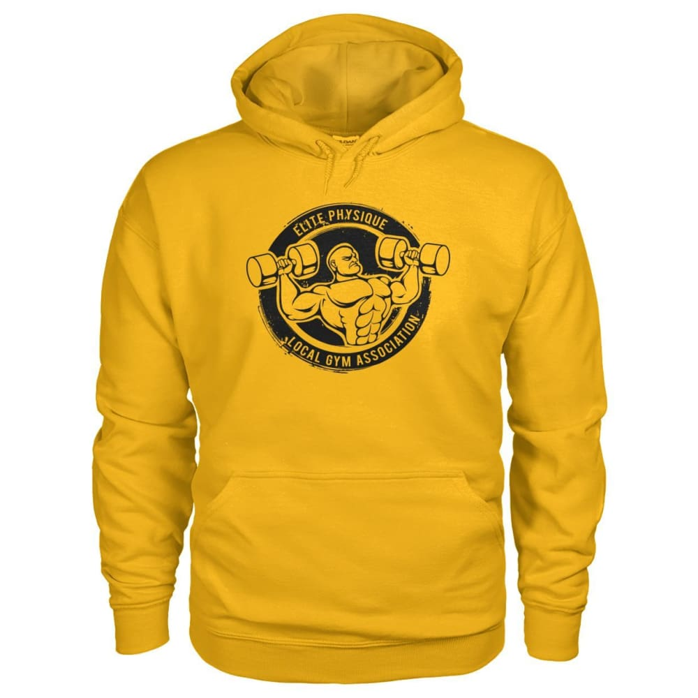 Elite Physique Hoodie - Gold / S - Hoodies