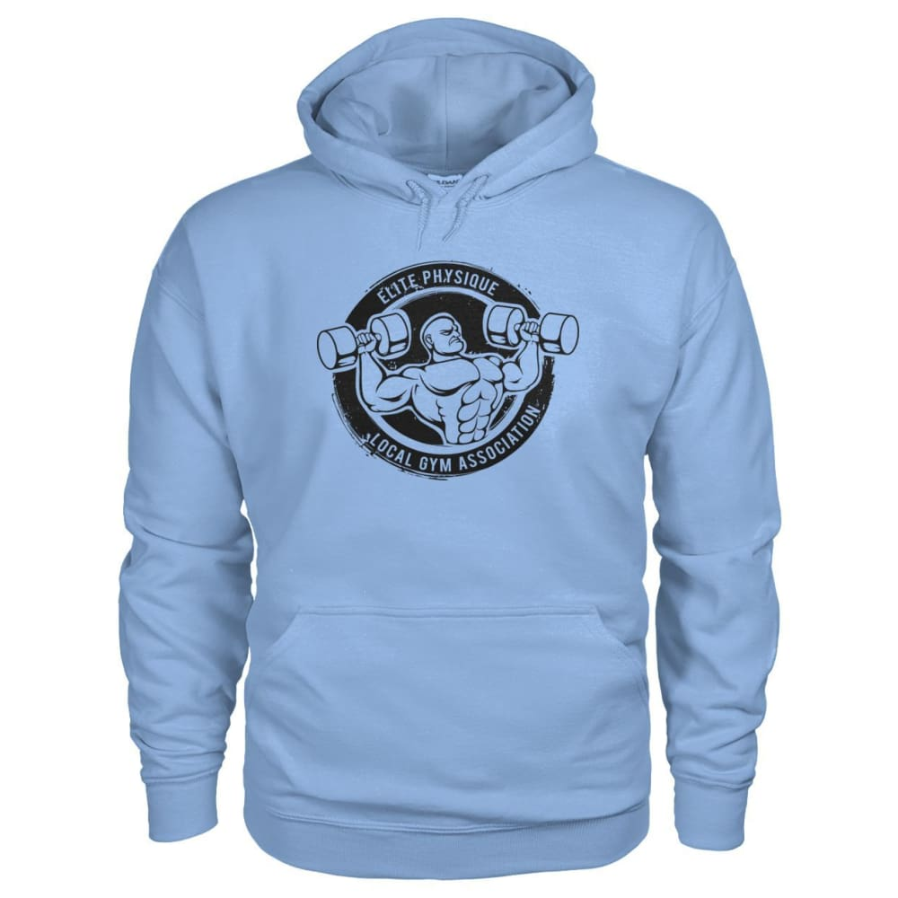 Elite Physique Hoodie - Light Blue / S - Hoodies