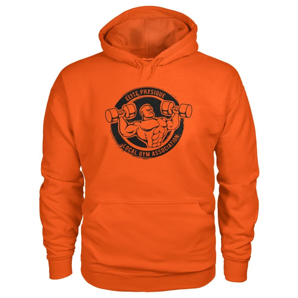 Elite Physique Hoodie - Orange / S - Hoodies