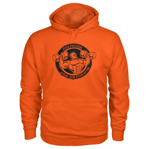 Image of Elite Physique Hoodie - Orange / S - Hoodies