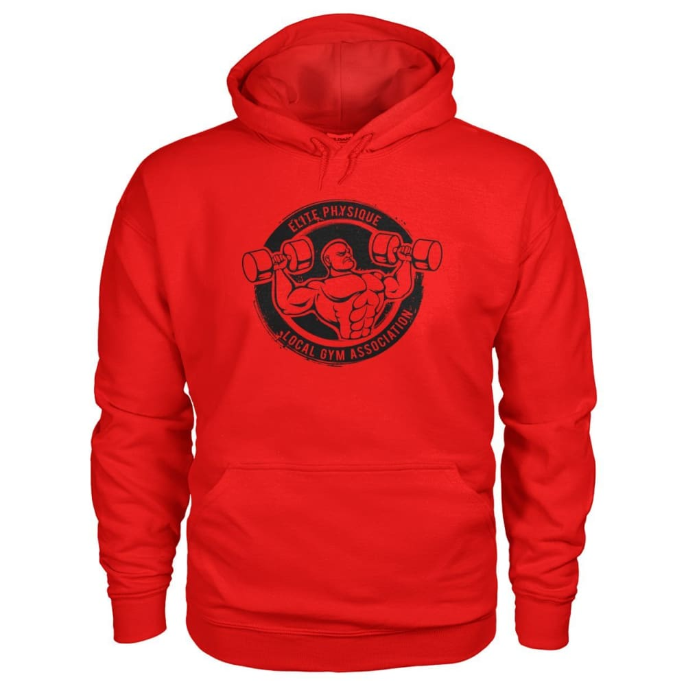 Elite Physique Hoodie - Red / S - Hoodies