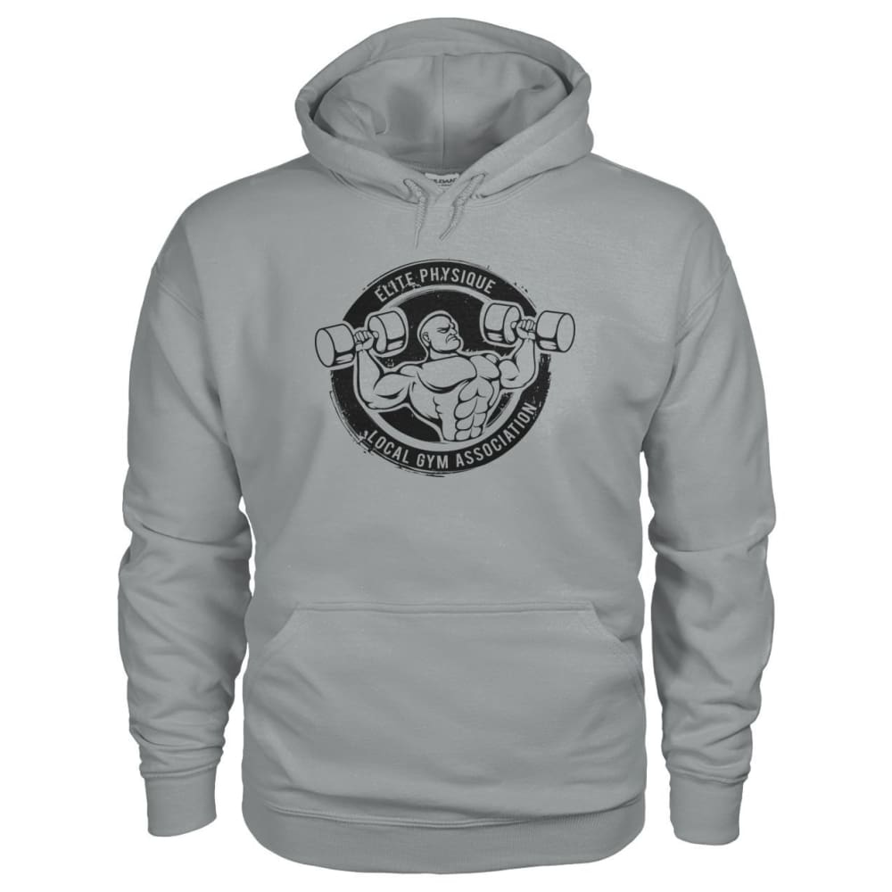 Elite Physique Hoodie - Sport Grey / S - Hoodies