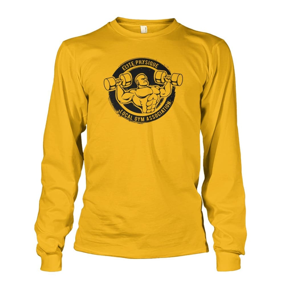 Elite Physique Long Sleeve - Gold / S - Long Sleeves