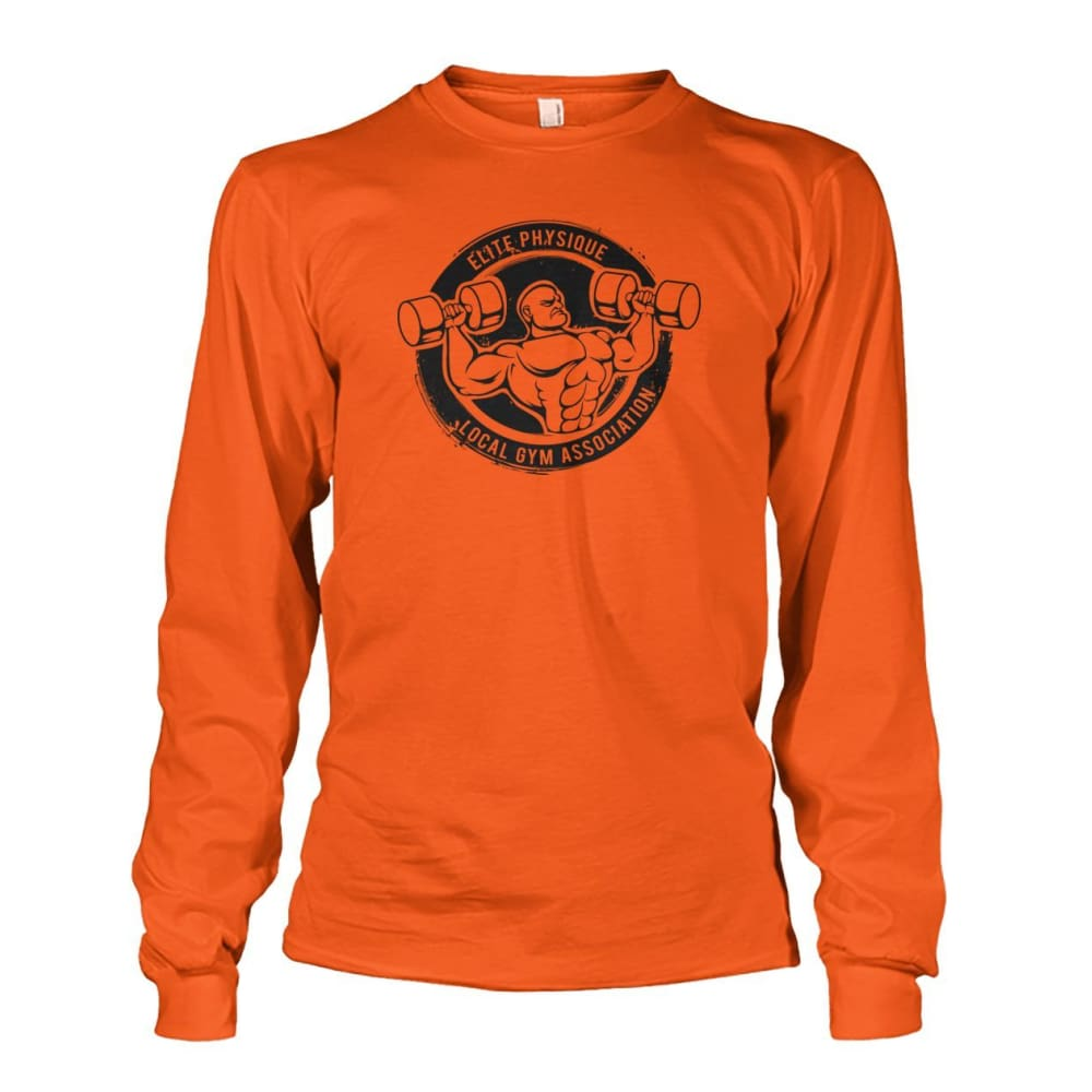 Elite Physique Long Sleeve - Orange / S - Long Sleeves