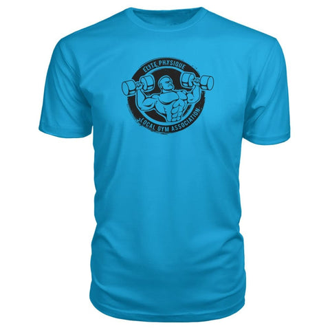 Image of Elite Physique Premium Tee - Carribean Blue / S - Short Sleeves