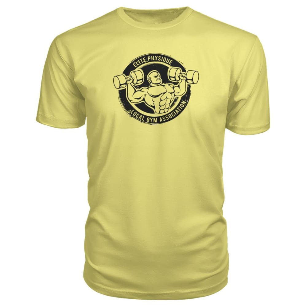 Elite Physique Premium Tee - Spring Yellow / S - Short Sleeves