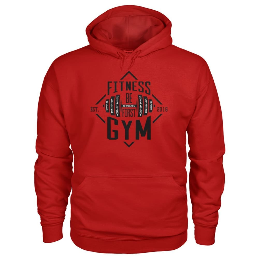 Fitness Gym Hoodie - Cherry Red / S - Hoodies