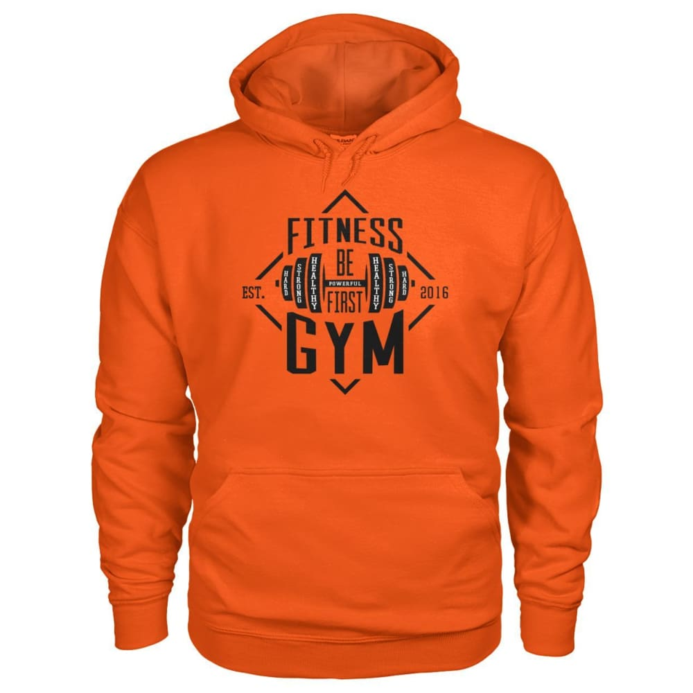 Fitness Gym Hoodie - Orange / S - Hoodies