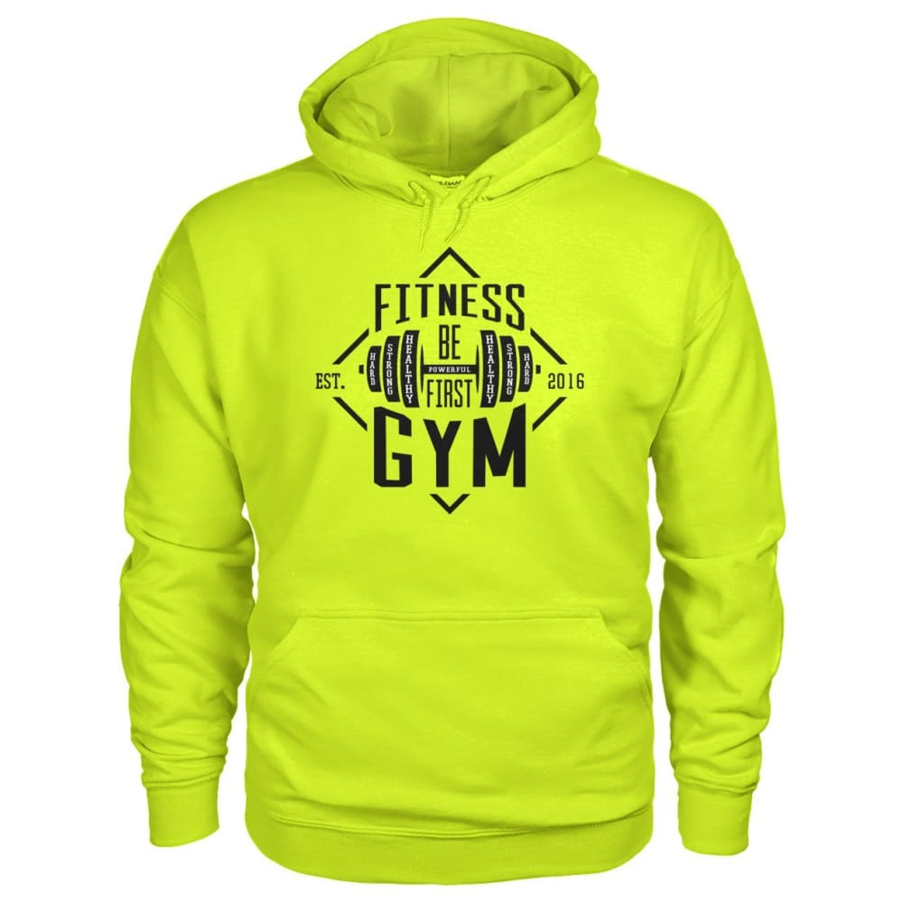 Fitness Gym Hoodie - Safety Green / S - Hoodies