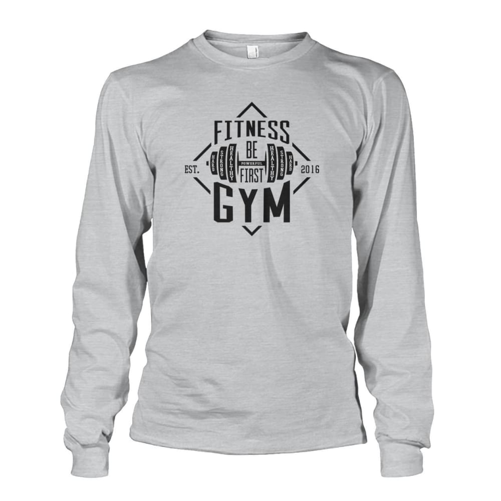 Fitness Gym Long Sleeve - Ash Grey / S - Long Sleeves