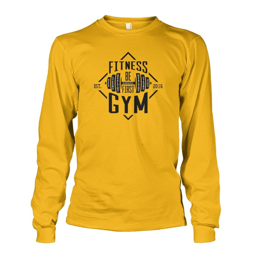 Fitness Gym Long Sleeve - Gold / S - Long Sleeves