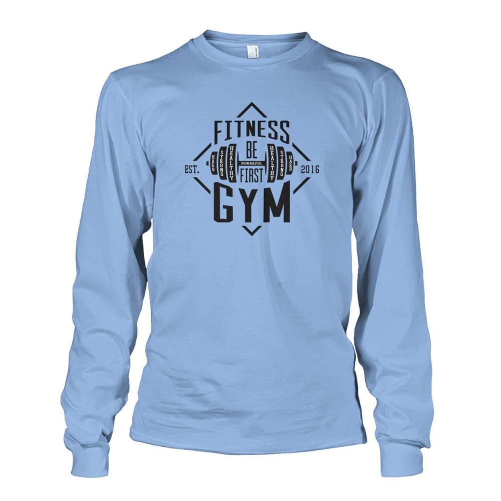Fitness Gym Long Sleeve - Light Blue / S - Long Sleeves