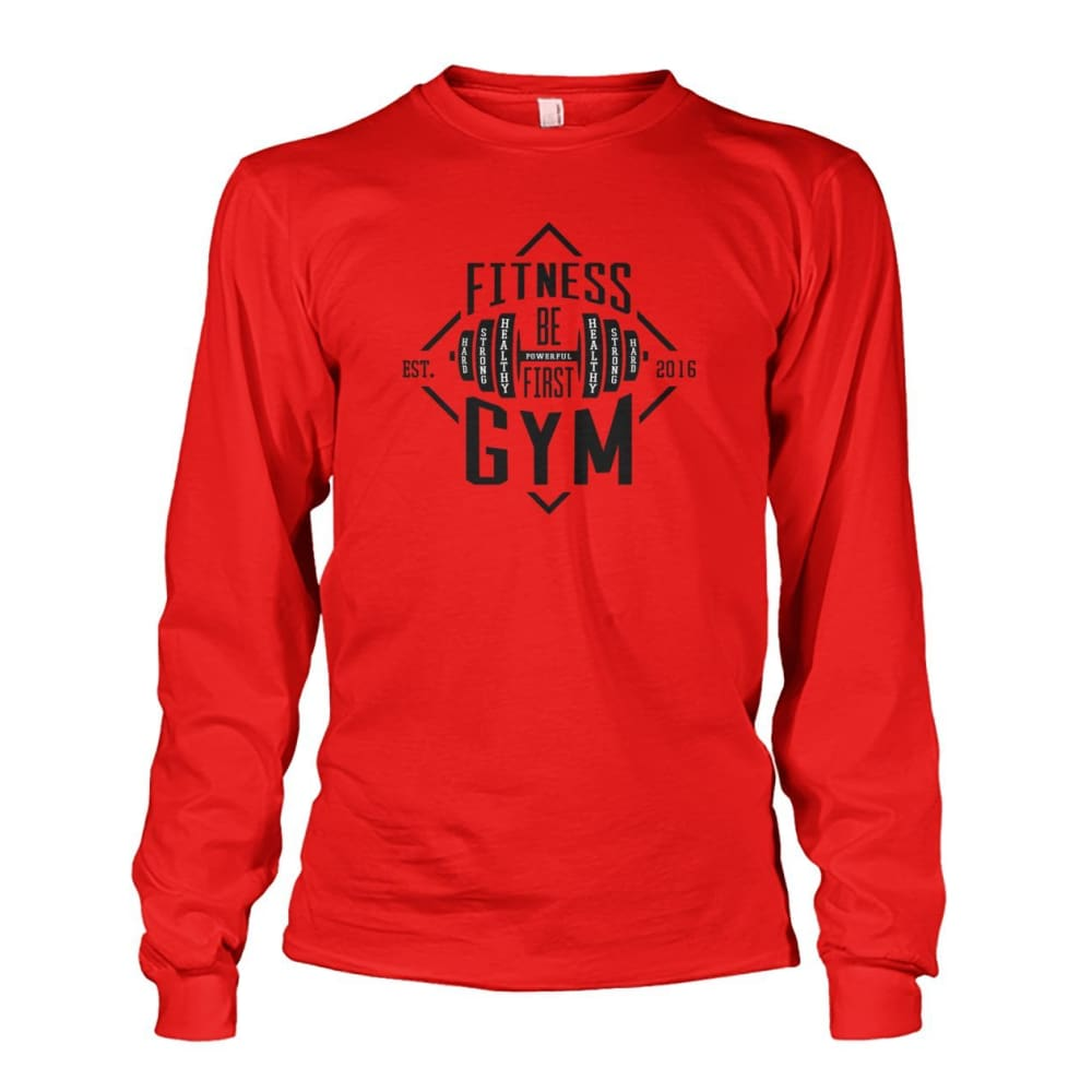 Fitness Gym Long Sleeve - Red / S - Long Sleeves