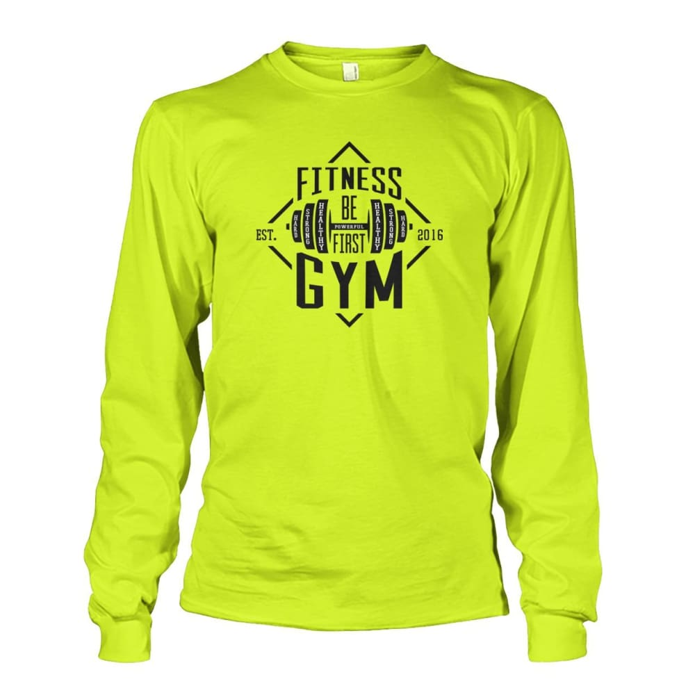 Fitness Gym Long Sleeve - Safety Green / S - Long Sleeves