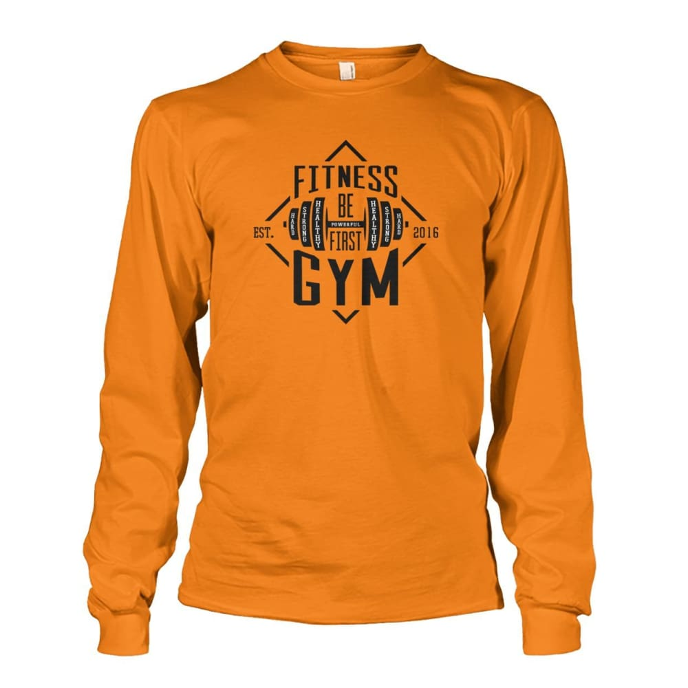 Fitness Gym Long Sleeve - Safety Orange / S - Long Sleeves