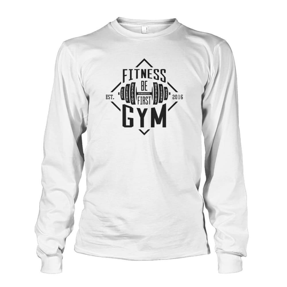 Fitness Gym Long Sleeve - White / S - Long Sleeves