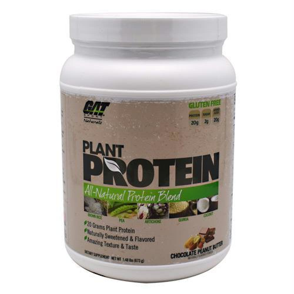 GAT Naturals Plant Protein Vanilla - Gluten Free - Chocolate Peanut Butter / 1.48 lb - Supplements