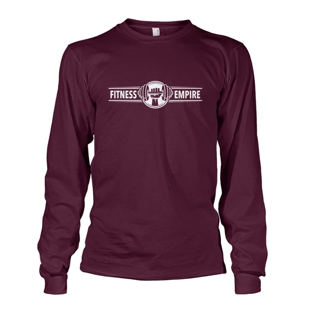 Gym Empire Long Sleeve - Maroon / S - Long Sleeves