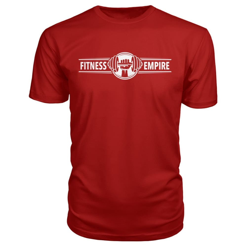 Gym Empire Premium Tee - Red / S - Short Sleeves