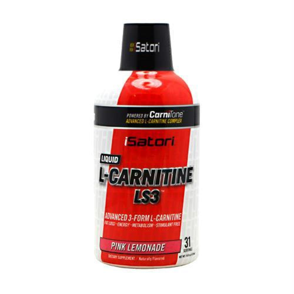 iSatori Technologies L-Carnitine LS3 1500 Pink Lemonade - Gluten Free - Pink Lemonade / 16 fl oz - Supplements