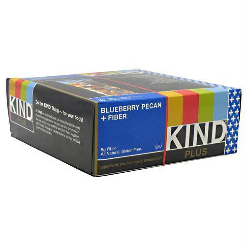 Kind Snacks Kind Plus Blueberry Pecan + Fiber - Gluten Free - Blueberry Pecan + Fiber / 12 ea - Bars