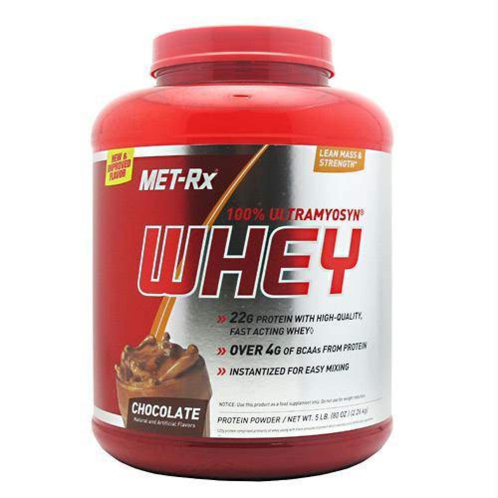 Met-Rx USA Ultramyosyn Whey Protein Chocolate - Chocolate / 5 lb - Supplements