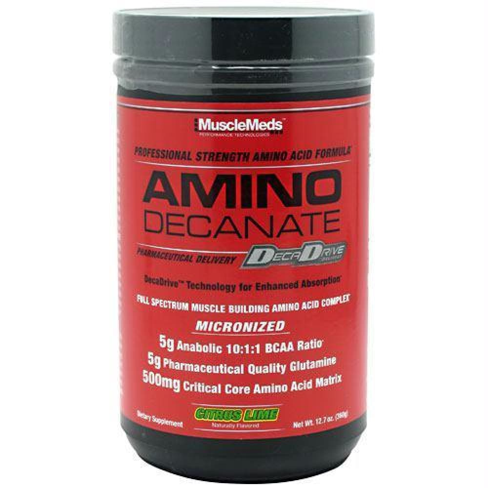 Muscle Meds Amino Decanate Citrus Lime - Citrus Lime / 12.7 oz - Supplements