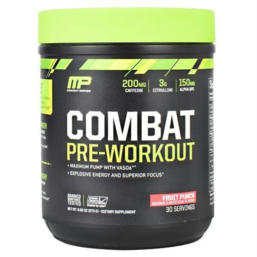MusclePharm Combat Series Combat Pre-Workout Blue Raspberry - Fruit Punch / 30 ea - Supplements