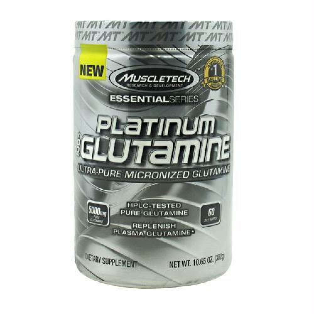 Muscletech Essential Series 100% Platinum Glutamine Unflavored - Unflavored / 60 ea - Supplements