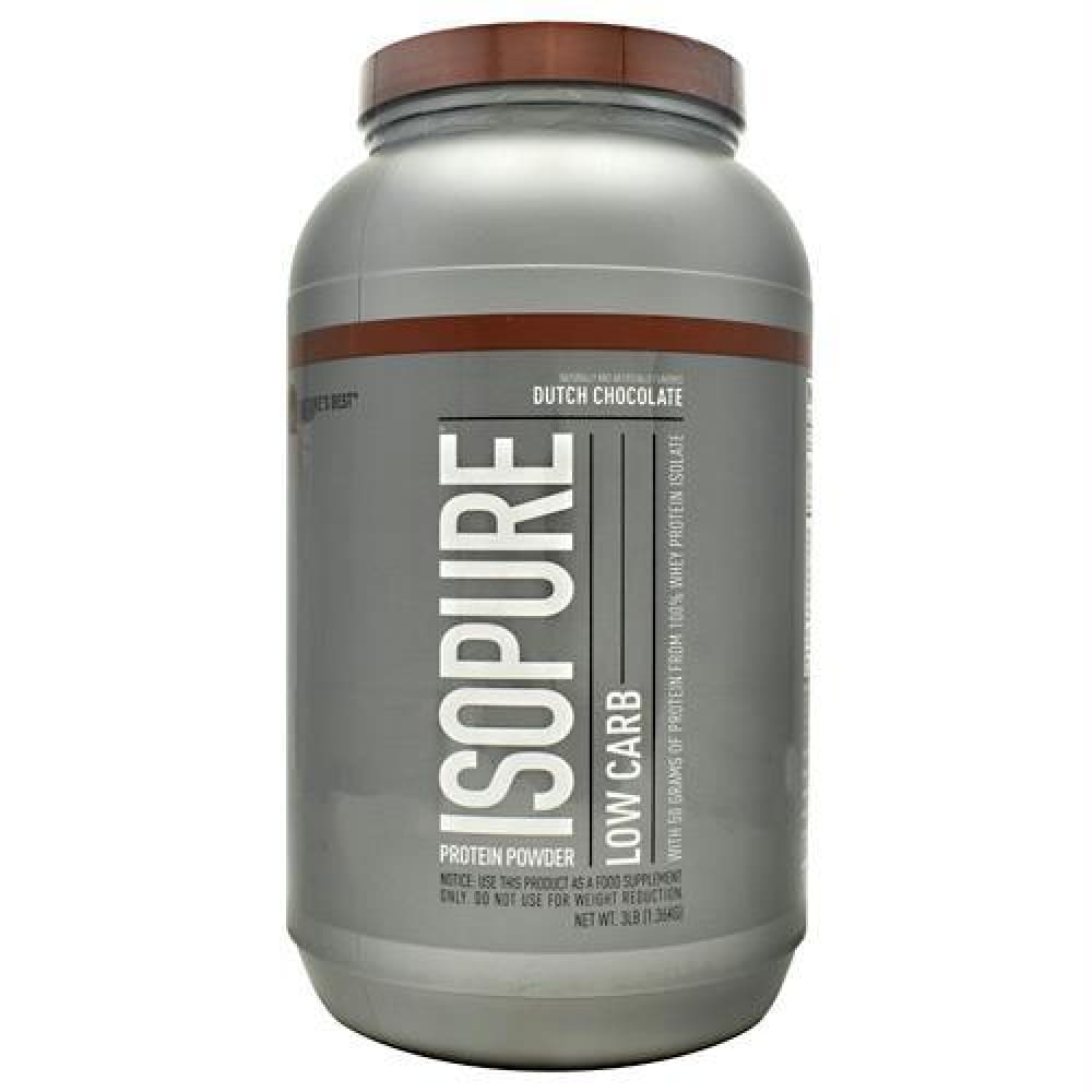 Natures Best Low Carb Isopure Dutch Chocolate - Dutch Chocolate / 3 lb - Supplements