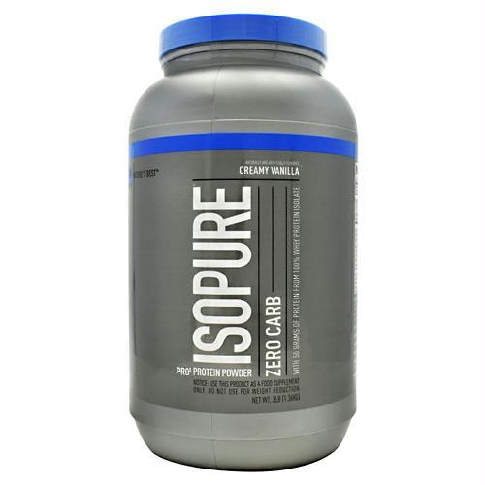 Natures Best Zero Carb Isopure Cookies & Cream - Creamy Vanilla / 3 lb - Supplements
