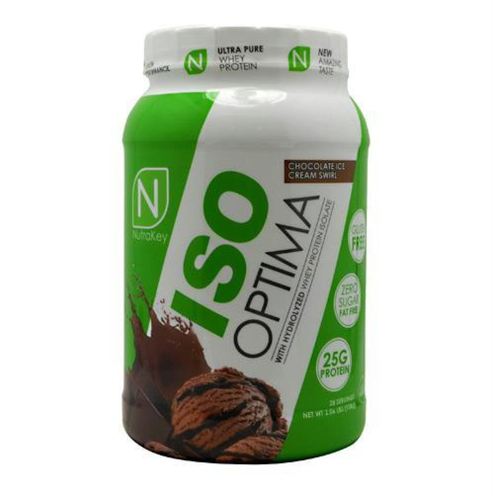 Nutrakey Iso Optima White Chocolate Macadamia - Chocolate Ice Cream Swirl / 2 lb - Supplements