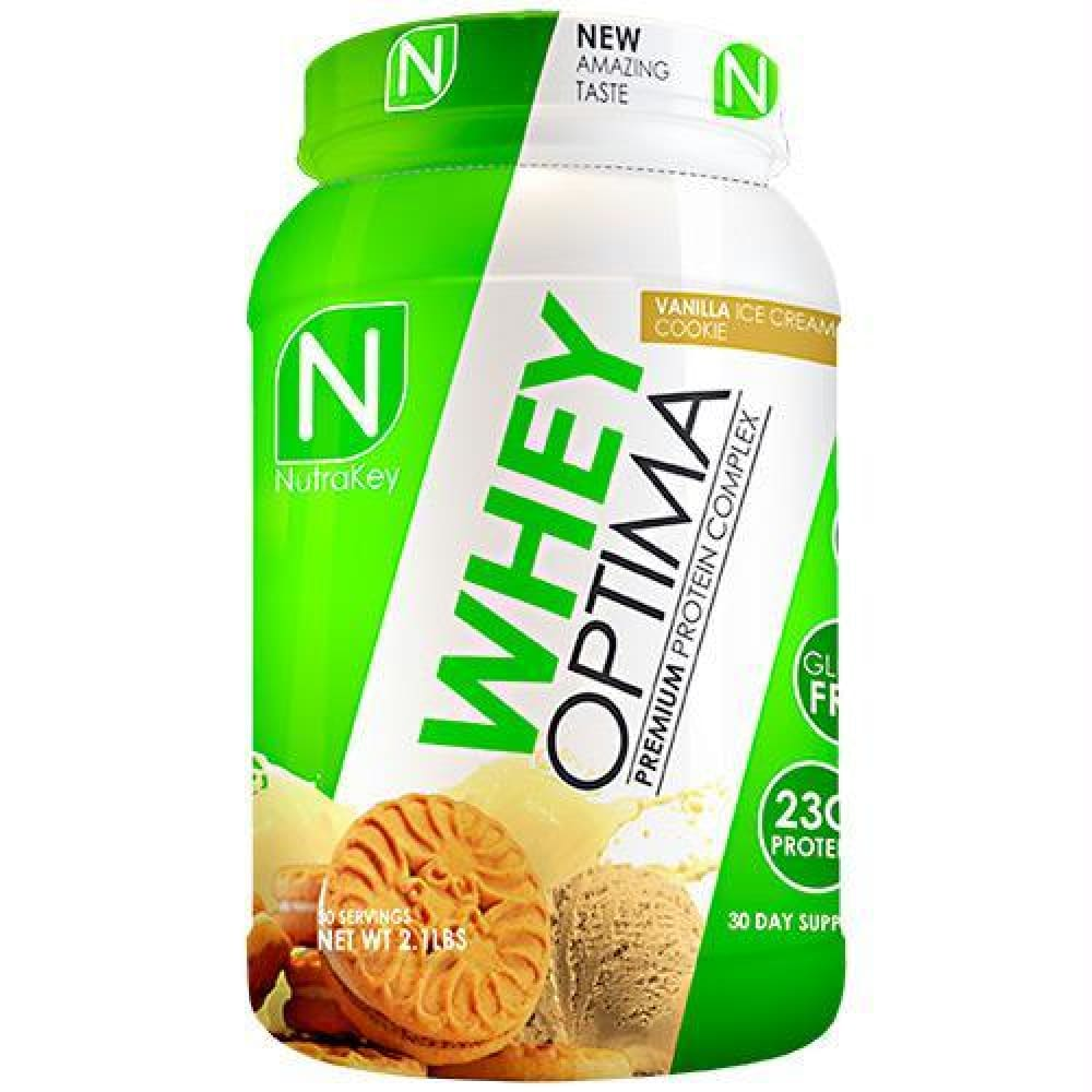 Nutrakey Whey Optima Vanilla Ice Cream Cookie - Gluten Free - Vanilla Ice Cream Cookie / 30 ea - Supplements