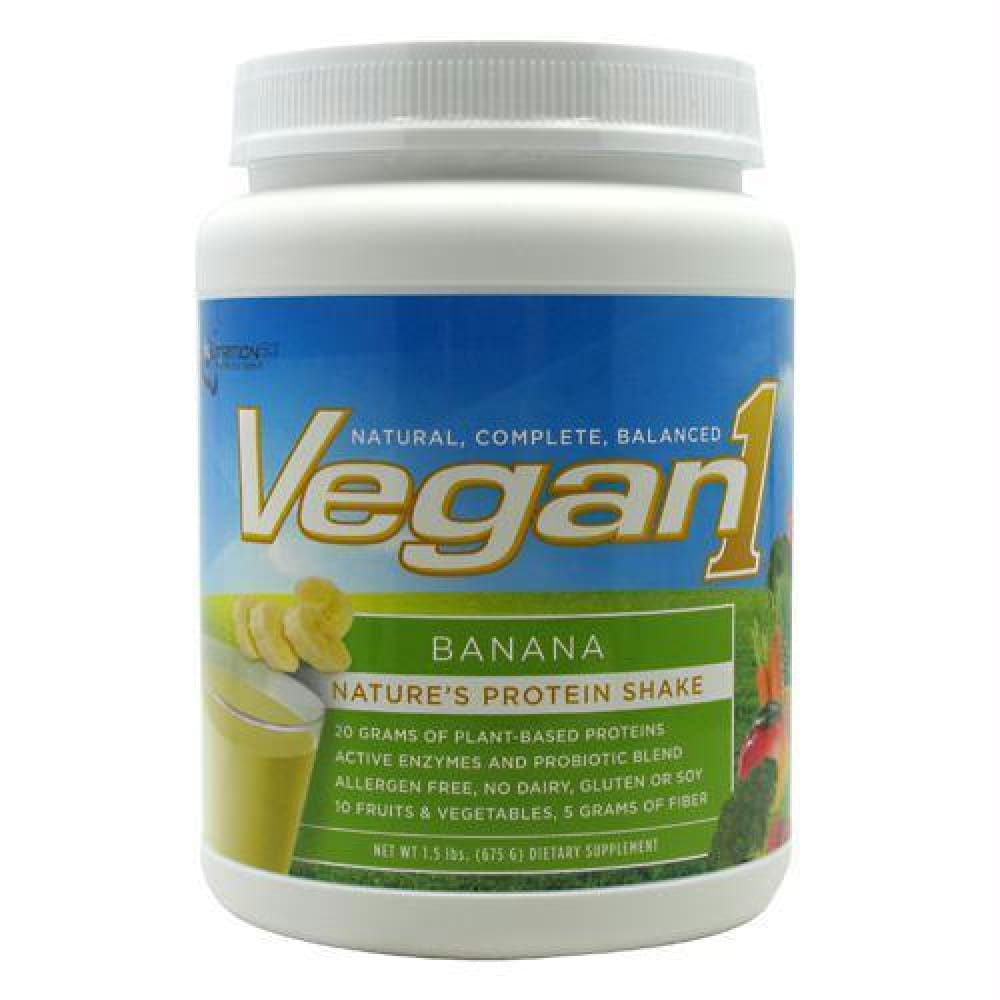 Nutrition 53 Vegan1 Vanilla - Gluten Free - Banana / 15 ea - Supplements